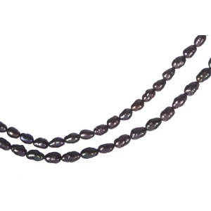 Grey Freshwater Pearl Double Strand Necklace