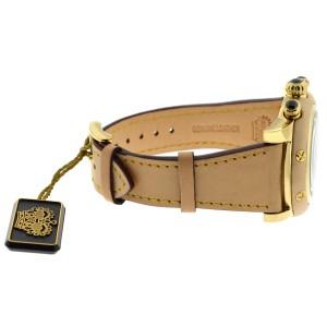 Glam Rock Women Miami Chronograph 46mm Beige Leather Watch