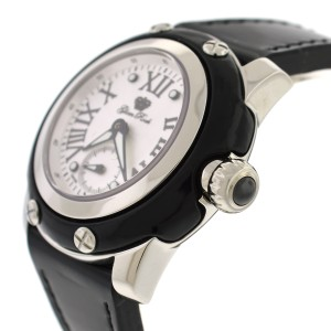 Glam Rock Women Palm Beach Collection 40mm Black Patent Leather Watch