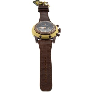 Glam Rock Race Track 46mm Brown Leather Chronograph Watch