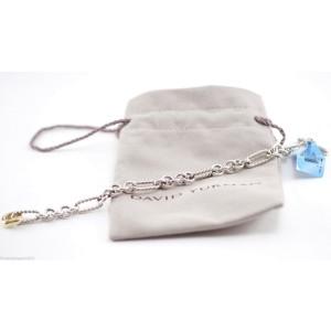 DAVID YURMAN Sterling Silver 18K Yellow Gold Figaro Link Bracelet