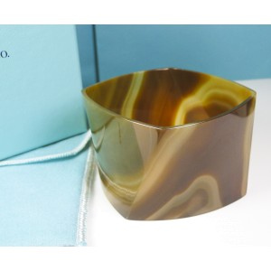 Tiffany & Co. Agate Torque Bangle Bracelet