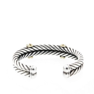 Sterling Silver Bracelet with 18k Gold and Diamonds