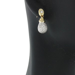 Diamond Teardrop Earrings With Gold