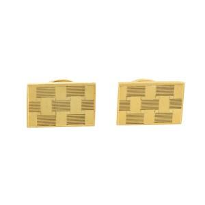 Vintage Pierre Cardin Checkered Design Cufflinks