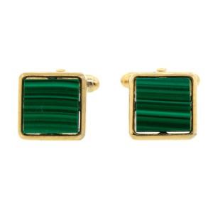 Vintage Green Stone Cufflinks