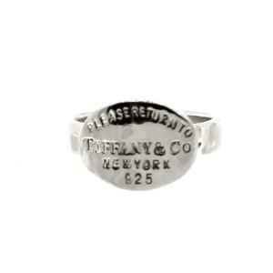 "Silver ""Return To Tiffany"" Oval Ring"