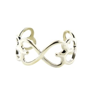 Tiffany & Co.  Double Loving Heart Cuff Bangle Bracelet