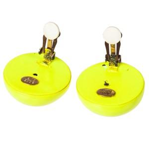 Alexis Bittar Neon Yellow Cabochon Earrings