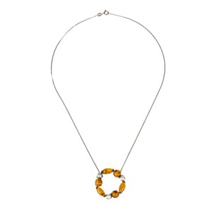 Alberto Juan Baltic Amber And Pearl Necklace