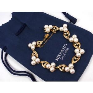 Mikimoto 14K Yellow Gold Pearl Bracelet