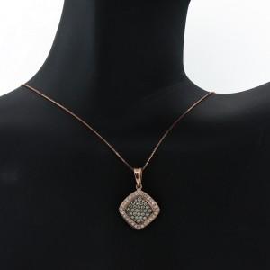Espresso Champagne Diamond Pendant Necklace