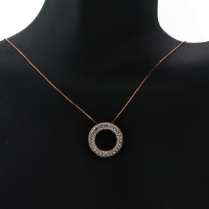 "Espresso ""Circle of life"" Pendant Necklace"