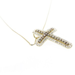 Espresso Diamond Cross Pendant