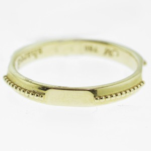 Monica Rich Kosann Yellow Gold Signet Posey Ring