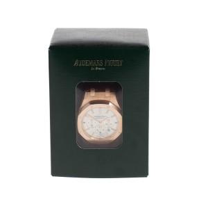 Audemars Piguet Royal Oak Chronograph 18K Rose Gold & Leather Automatic 41mm Men's Watch