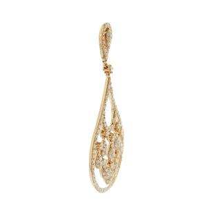 14K Rose Gold Diamond Unique Chandelier Earrings