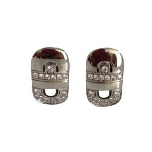 Bvlgari 18K White Gold Parentesi Diamond Earrings