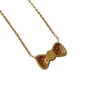 Van Cleef & Arpels Diamond Coral Bow Necklace