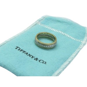 Tiffany & Co Platinum & 18K Yellow Gold Diamond Wedding Band