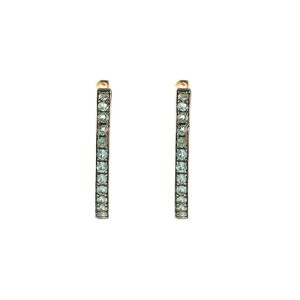 14k Yellow Gold Alexandrite Earrings