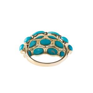 14k Yellow Gold Turquoise Ring