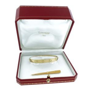 Cartier Yellow Gold Love Bangle Bracelet Size 17