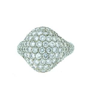 18K White Gold Pave Diamond Ring