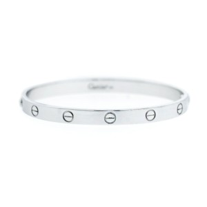 Cartier Love White Bracelet Gold Size 19
