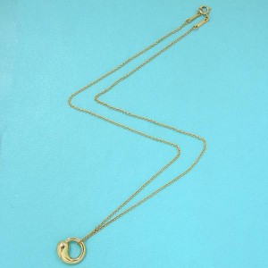 Tiffany & Co. 18K Yellow Gold Elsa Peretti Eternal Circle Necklace