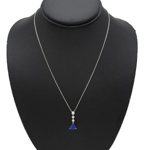 Tiffany & Co. 18K White Gold Tanzanite Necklace