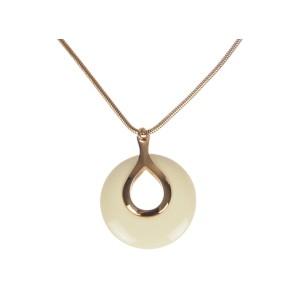Lanvin Plastic Creamy White Pendant Necklace