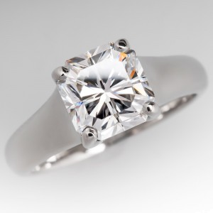 Tiffany & Co. Lucida Platinum & 2.56 ct Diamond Engagement Ring Size 7.25