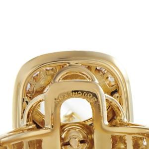Boucheron 18K Yellow Gold Diamond & Crystal Ring