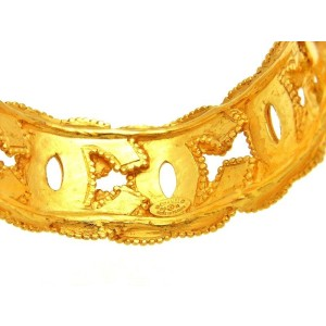Chanel Gold Tone Metal Bracelet