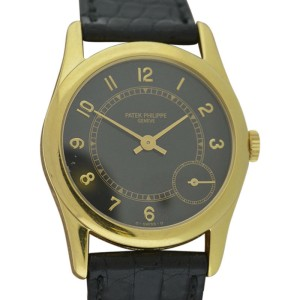 Patek Philippe 5000J Calatrava 18K Yellow Gold 35mm Mens Watch