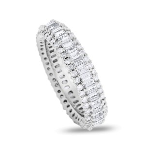 18K White Gold 2.24ct Diamond Eternity Band Ring Size 7