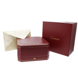 Cartier Love Bracelet White Gold Half Diamonds Size 18