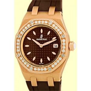 "Audemars Piguet ""Lady Royal Oak Offshore"" 18K Rose Gold Womens Strap Watch"