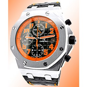 "Audemars Piguet ""Royal Oak Offshore Volcano"" Chronograph Stainless Steel Watch"