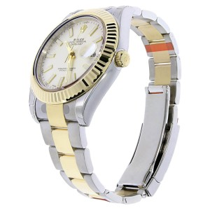 Rolex Datejust II 116333 Stainless Steel & 18K Yellow Gold White Index Dial 41mm Mens Watch