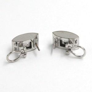 Chopard 18K White Gold Happy Diamond Earrings 843335