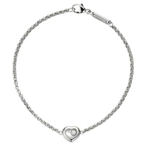 Chopard 18K White Gold Happy Heart Diamond Bracelet