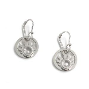 Chopard 18K White Gold Happy Sun Diamond 836980 Earrings