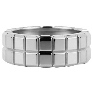 Chopard 18K White Gold Ice Cube Ring Size 6.75