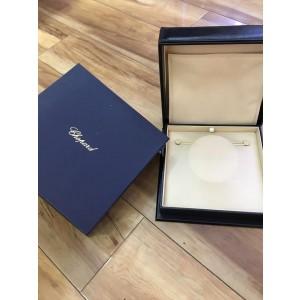 Chopard 18K White Gold Happy Sun Diamond Necklace 796980