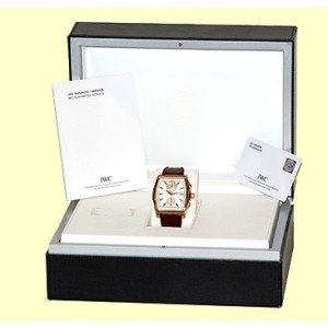IWC Da Vinci IW3764.02 18K Rose Gold & Leather Automatic 43mm Mens Watch