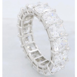 Harry Winston Platinum & 9.35ct Diamond Band Ring Size 7.5
