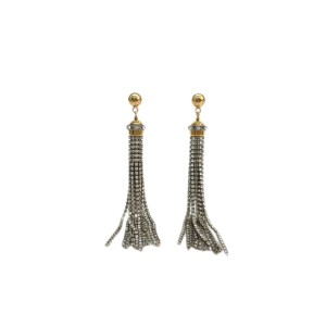 Louis Vuitton Rhinestone And Silver & Gold Tone Metal Earrings