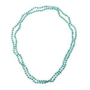 Chinese Peking Glass Bead Flapper Necklace